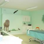 עיטור חדר טיפולים במרפאה/ בית חולים