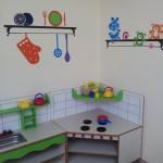 עיצוב ועיטור פינת מטבח בגן / במעון