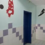 מסדרון חדרים בפנימיית בנים