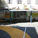 עיצוב כניסה מבנה חטיבה צעירה בית ספר הריאלי במרכז הכרמל בחיפה