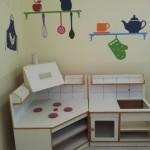 עיצוב ועיטור פינת מטבח בגן